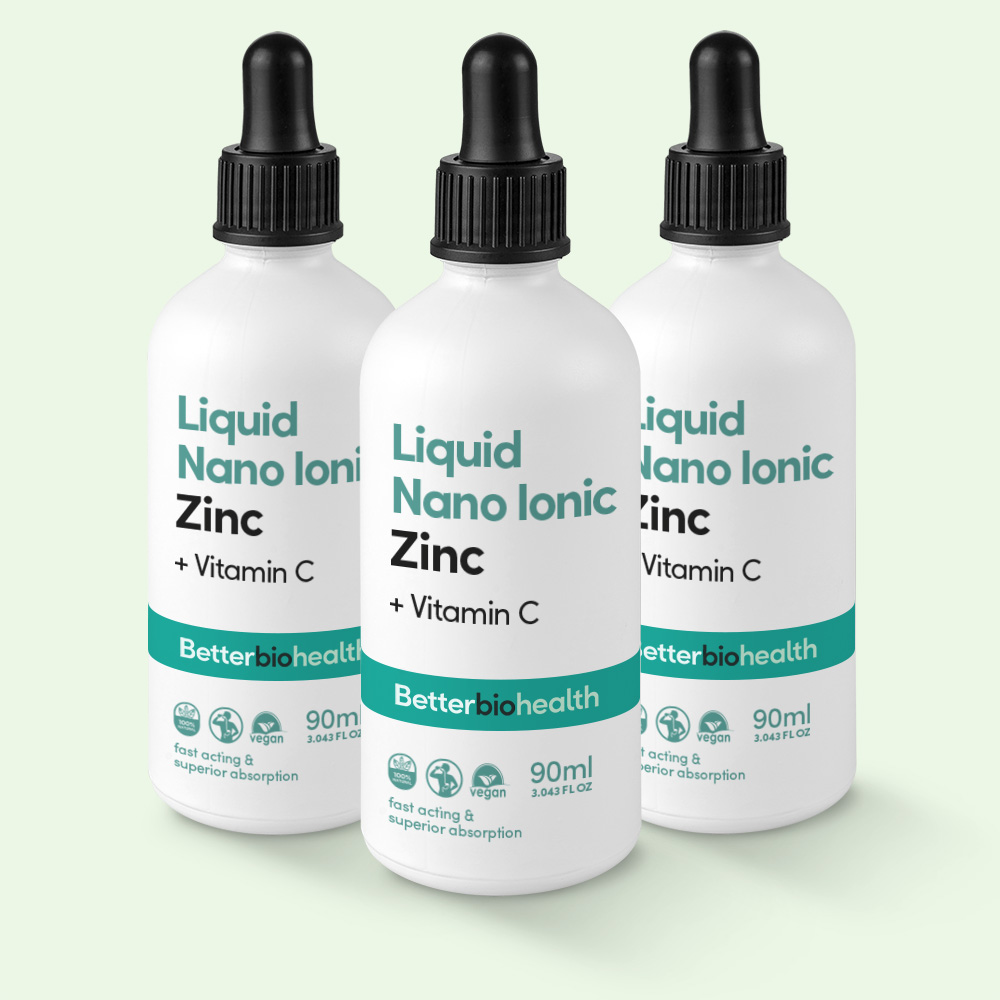 Nano Ionic Zinc - Daily dose, easily absorbable essential, zinc + vitamins C, reduce stomach irritation, Nano Ionic Liquid Zinc,bio-available mineral, health benefits, aids immunity, reducing risk age-related eye diseases, helping wounds heal, helps absorb plant-based iron, aids cell division, aids fertility reproduction, aids digestion, aids metabolism,. tissue respiration, synthesis of hormones. serotonin, dopamine, melatonin, noradrenaline, increases alertness, increases capacity abstract thinking, improves moodiness, memory failure, Protection Against Colds, Eye Disease Protection, Wound Healing